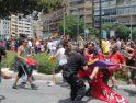 Batalla campal en Alicante en la inauguración del AVE