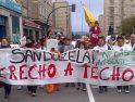 Manifestación por el derecho a la vivienda y en apoyo a la recuperación de viviendas emprendida por la PAH en Sanduzelai