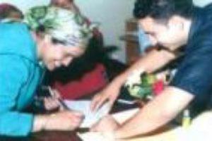 La kaptilo de la mikrokreditoj por virinoj en Maroko