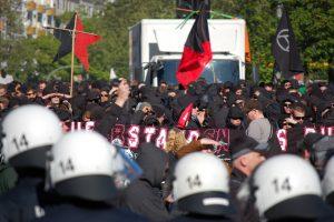 La lucha por Rote Flora en Hamburgo