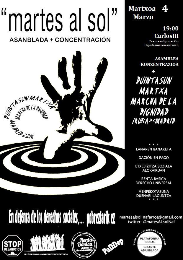 Los Martes al Sol convocan una marcha simbólica Iruñea- Madrid.