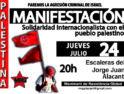 24-j Alicante: Manifestación «Paremos la agresión criminal de Israel. Solidaridad internacionalista con el pueblo palestino»
