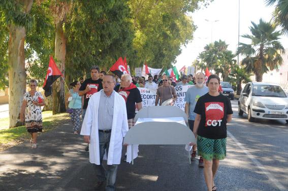 [Fotos] Manifestación en Algeciras contra los recortes en la Sanidad Pública
