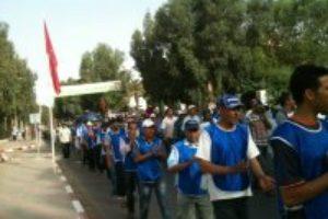 Los trabajadores de las subcontratas de los fosfatos de Khouribga mantienen su lucha