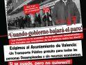 23M: Protesta en Valencia por un transporte gratuito para desempleados/as