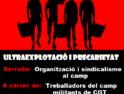 4-j Castelló: Charla «Trabajo en el campo: explotación y precariedad» a cargo de CGT CAMP Castelló
