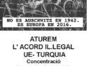 16-M: Concentración «Paremos el acuerdo ilegal UE-Turquía» en Maó