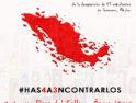 20-S: Manifestación por el 2º aniversario de la desaparición forzada de los 43 normalistas de Ayotzinapa, México