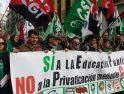 [Fotos]  Manifestaciones en Granada contra la privatización de la educación mediante conciertos