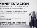 18-f Alicante: Manifestación en defensa de los servicios de salud mental comunitarios