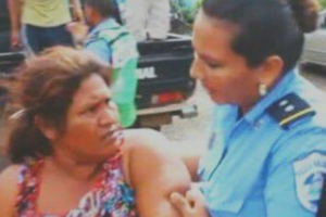 Una campesina hace frente al presidente de Nicaragua