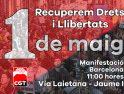 1 de Mayo manifestación de CGT en Barcelona