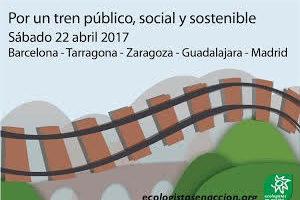 Fin de semana de acciones por un tren público, social y sostenible