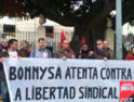 """18-m Alicante: Concentración en solidaridad con Juanjo, delegado denunciado por la empresa por una pancarta que decía """"Bonnysa morosa, explota, cobra y no paga"""""""