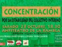 Concentración en Almería por la estabilidad del personal docente interino
