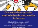 25-N: Concentración en Málaga contra las nuevas bolsas de contratación de Correos
