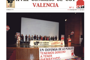 XVIII Congreso de CGT en Valencia. Diario 1