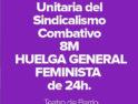 El Bloque Combativo explica las razones para ir a la Huelga General Feminista el próximo 8 de marzo
