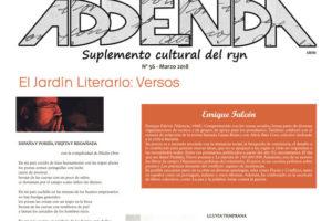 Addenda, suplemento cultural del RyN – Nº 56, marzo 2018
