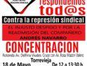 18-m Torrevieja: Concentración contra la represión sindical en Avanza/Autocares Costa Azul