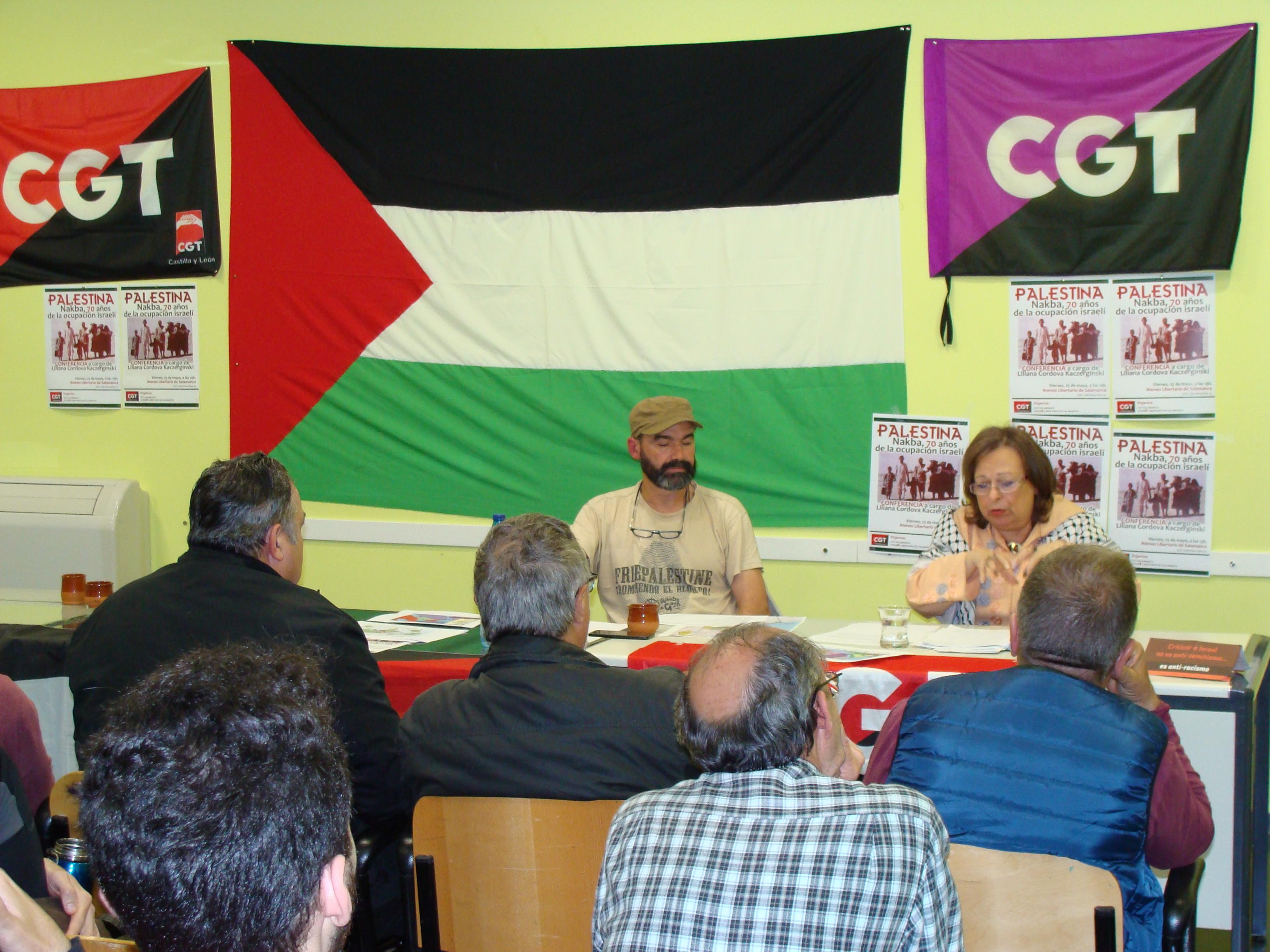 [Fotos] Conferencia sobre Palestina en CGT-Salamanca