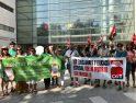 [Foto] La Plataforma de Educadoras y la CGT se concentran durante el juicio contra Educación y exigen dignidad profesional