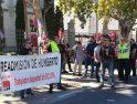 Ayer CGT se manifestó en el puerto de Valencia por el despido de Humberto y exigiendo su readmisión