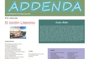 Addenda, suplemento cultural del RyN – Nº 67, marzo 2019