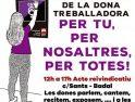 CGT- de Barcelona contra los servicios mínimos dictaminados por la Generalitat de Catalunya y la utilización de las instituciones y políticos de  la Huelga General de 24 horas del 8 de Marzo