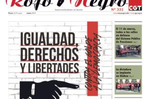 Rojo y Negro Nº 332, marzo 2019