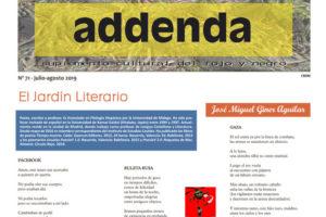 Addenda, suplemento cultural del RyN – Nº 71, julio-agosto 2019
