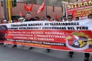 PERÚ   Solidaridad con la huelga minera