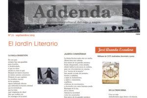 Addenda, suplemento cultural del RyN – Nº 72, septiembre 2019