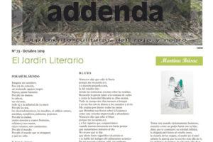 Addenda, suplemento cultural del RyN – Nº 73, octubre 2019