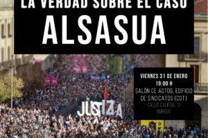 Acto público con el colectivo Colectivo Gurasoak para poner luz a la oscura versión oficial del «Caso Alsasua»
