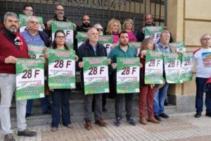 Presentada la manifestación del 28F ante el teatro de la Maestranza en Sevilla