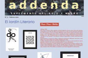 Addenda, suplemento cultural del RyN – Nº 77, febrero 2020