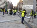 Acampada de la plantilla de Parques y Jardines de Zaragoza contra la precariedad y la explotación laboral