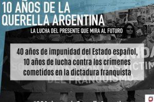 10 años de la Querella Argentina: Ha dado comienzo la campaña 3 de septiembre