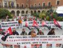 CGT con la ciudadanía reivindicando la movilidad en los pueblos de Aragón