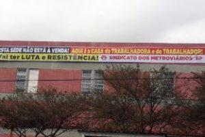 En defensa de la sede del Sindicato de los Trabajadores del Metro de São Paulo