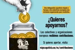 Formulario para contribuciones europeas en apoyo a la Gira Zapatista