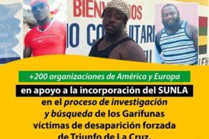 Agradecimiento de SUNLA y OFRANEH por la solidaridad con el pueblo Garífuna