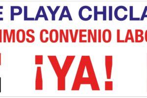 Concentración y manifestación de trabajadores y trabajadoras de las empresas concesionarias de los servicios de limpieza, playas, jardinería, recogida residuos de Chiclana de la Frontera