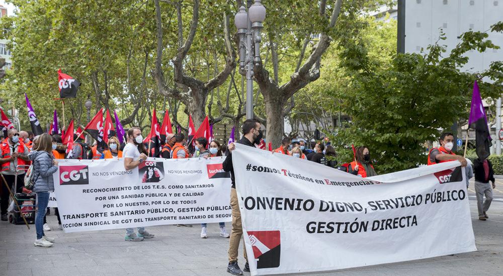 Manifestación de Trabajadores del Transporte Sanitario en Valladolid