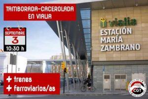 RENFE continúa sin garantizar el número de trenes que existían en la provincia de Málaga antes de la pandemia