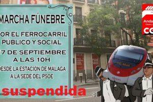Suspendida la marcha fúnebre a la sede del PSOE en Málaga y la huelga en RENFE viajeros para el día 17S