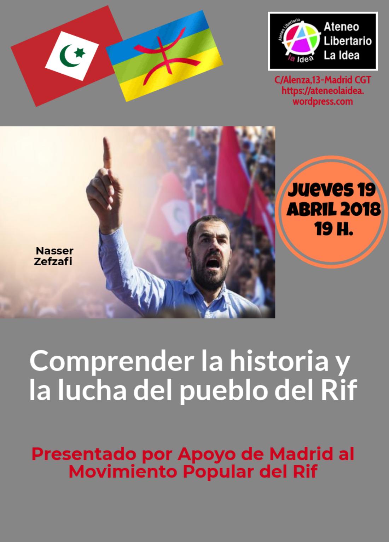 Charla-debate: Comprender la historia y la lucha del pueblo del Rif