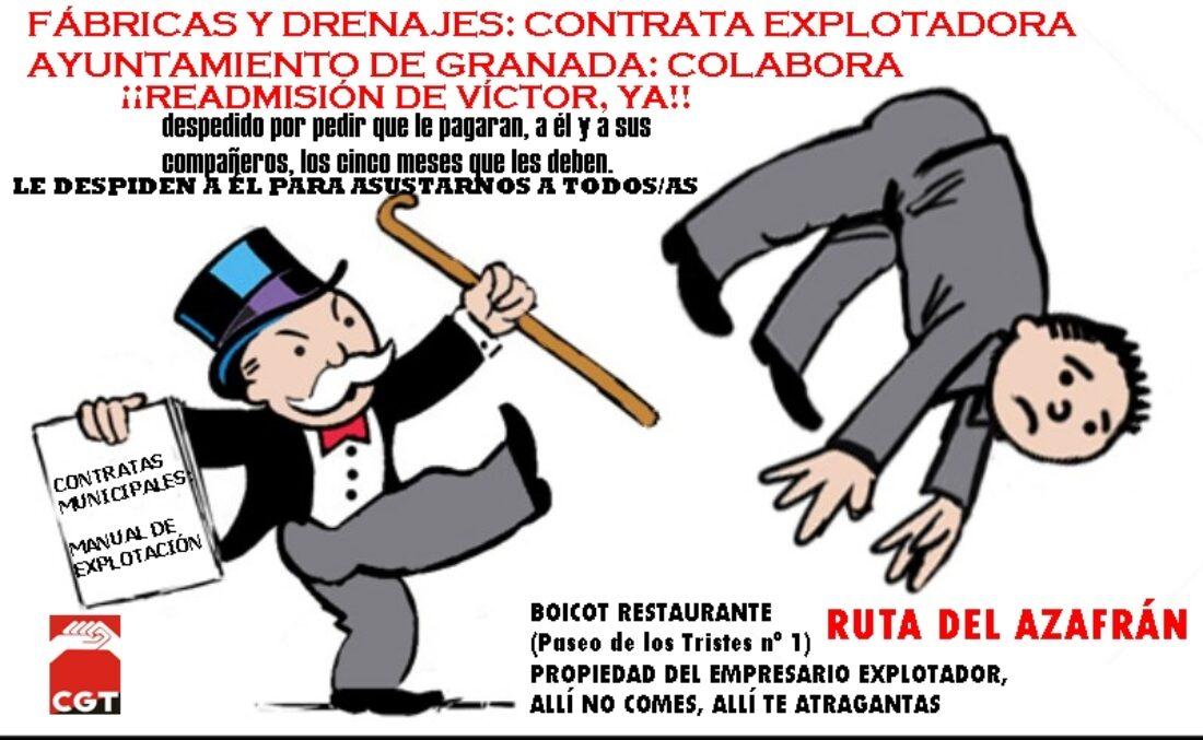 9A: Huelga, concentraciones y manifestación en Fábricas y Drenajes de Granada