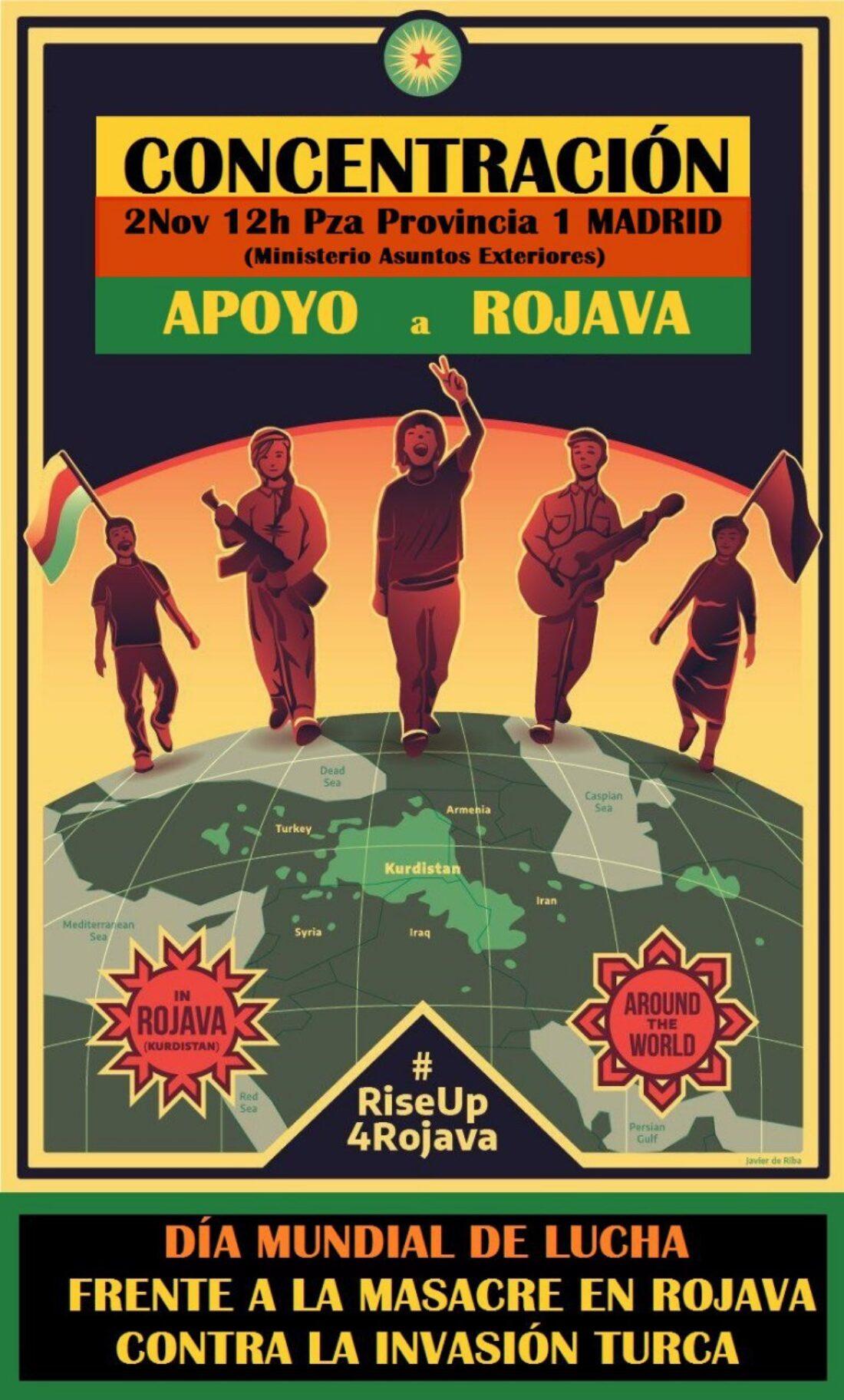 2 de noviembre. Día de acción mundial frente a la masacre en Rojava
